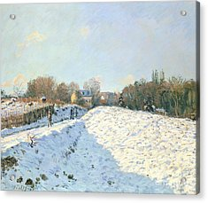 Effect Of Snow At Argenteuil Acrylic Print by Alfred Sisley