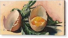 Egg And Basil Acrylic Print
