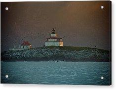 Egg Rock Island Lighthouse Acrylic Print by Sebastian Musial