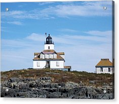 Egg Rock Lighthouse Acrylic Print by Catherine Gagne