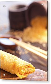 Egg Roll Acrylic Print by Mythja  Photography