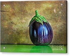 Eggplant Acrylic Print by Kaye Menner