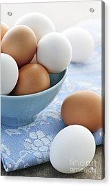 Eggs In Bowl Acrylic Print by Elena Elisseeva