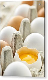 Eggs In Box Acrylic Print by Elena Elisseeva
