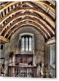 Eglwys Celynnin Sant Acrylic Print by Adrian Evans