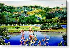 Egret Isle Acrylic Print