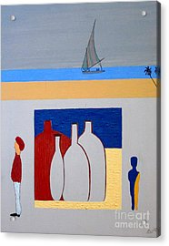 Acrylic Print featuring the painting Egypt Afternoon by Bill OConnor