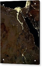 Egypt At Night Acrylic Print by Planetobserver