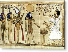 Egypt Book Of The Dead Acrylic Print by Granger