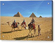 Egypt, Cairo, Giza, Tourists Ride Acrylic Print