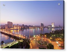 Egypt, Cairo, View Of Bridge With River Acrylic Print by Westend61