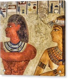 Acrylic Print featuring the painting Egypt Pharaohs by Georgi Dimitrov
