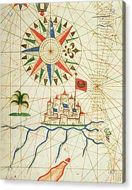 Egypt, The River Nile And Cairo, From A Nautical Atlas, 1646 Ink On Vellum  Acrylic Print by Italian School