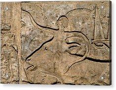 Egyptian Art Egypt Relief Acrylic Print by Prisma Archivo