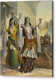 Egyptian Dancing Girls Performing Acrylic Print
