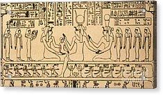 Egyptian Fresco Acrylic Print by Granger