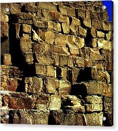 Giza Pyramid - Detail Acrylic Print by Jacqueline M Lewis
