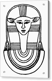 Egyptian Symbol Hathor Acrylic Print by Granger