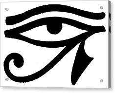 Egyptian Symbol Wedjat Acrylic Print by Granger