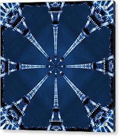 Eiffel Art 21 Acrylic Print by Mike McGlothlen