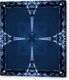 Eiffel Art 27 Acrylic Print by Mike McGlothlen