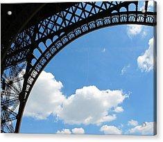 Eiffel Clouds Acrylic Print by Kathy Corday