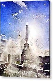 Eiffel During Summer Acrylic Print