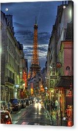 Eiffel Over Paris Acrylic Print