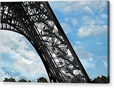 Eiffel Stairs Acrylic Print by Lorella  Schoales