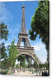 Acrylic Print featuring the photograph Eiffel Tower - 1 by Pema Hou