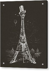 Eiffel Tower Acrylic Print by Aged Pixel