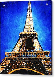 Eiffel Tower Acrylic Print by Anastasiya Malakhova