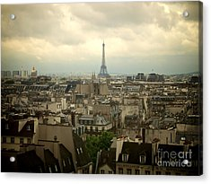 Eiffel Tower And Roofs Of Paris. France.europe. Acrylic Print by Bernard Jaubert