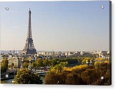 Paris France The Eiffel Tower Acrylic Print