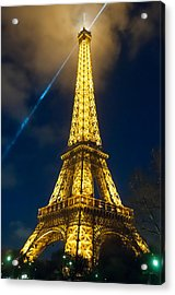 Acrylic Print featuring the photograph Eiffel Tower At Night by Avian Resources