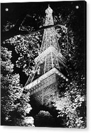 Eiffel Tower At Night Acrylic Print