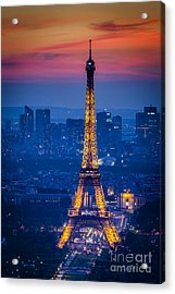 Eiffel Tower At Twilight Acrylic Print