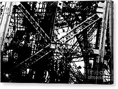 Acrylic Print featuring the photograph Eiffel Tower Detail  by Joey Agbayani