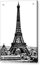 Eiffel Tower Drawing 19th Century Acrylic Print by