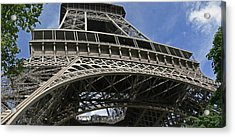 Eiffel Tower First Balcony Acrylic Print by Gary Lobdell