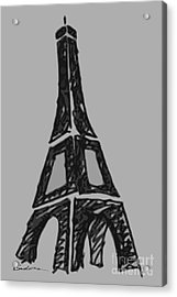 Eiffel Tower Graphic Acrylic Print