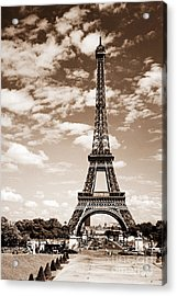 Eiffel Tower In Sepia Acrylic Print