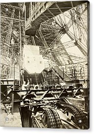 Eiffel Tower Lift Machinery, 1889 Acrylic Print by Science Photo Library