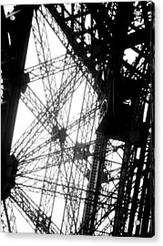 Eiffel Tower Lift Acrylic Print by Rita Haeussler