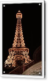 Eiffel Tower Light Up My Dreams Acrylic Print