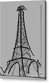 Eiffel Tower Lines Acrylic Print by Robyn Saunders