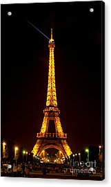 Eiffel Tower Night Acrylic Print by Olivier Le Queinec