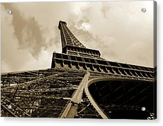 Eiffel Tower Paris France Black And White Acrylic Print by Patricia Awapara