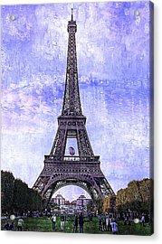 Acrylic Print featuring the photograph Eiffel Tower Paris by Kathy Churchman