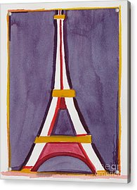 Eiffel Tower Purple Red Acrylic Print